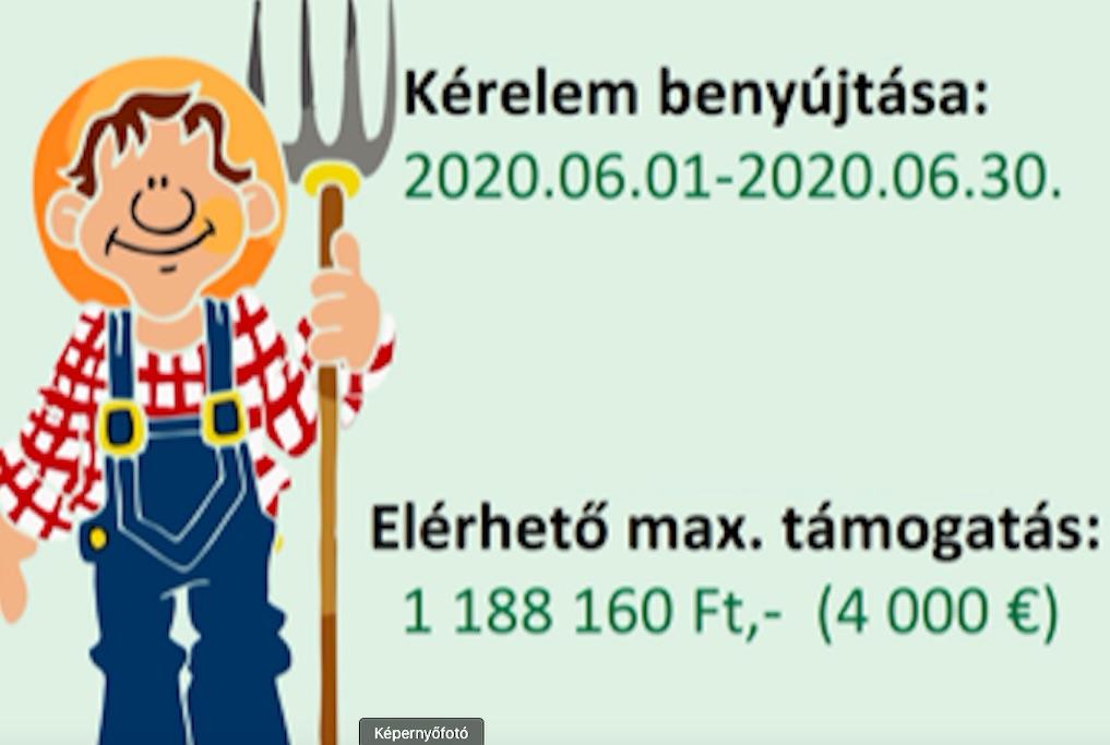 2020. június 1-től indul a 2014-es Fiatal gazdák elnyert támogatása 10 %-ára vonatkozó kifizetési kérelem benyújtásának lehetősége